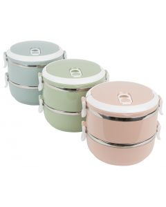 AB4132 - 2 Tier Stainless Steel Lunch Box
