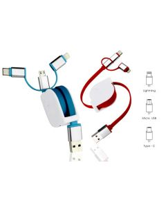 ABI41 Stretchable Charging Cable (with Type C)