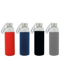ABI49  Glass Bottle w/ Neoprene Pouch (500ml)