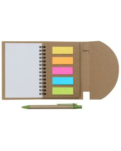 ABI 68 - Eco Sticky Notepad with Recycle Paper Pen